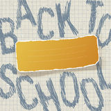Education themed abstract background, vector ill Stock Images