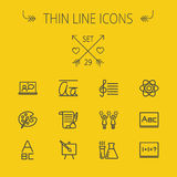 Education thin line icon set Stock Photo