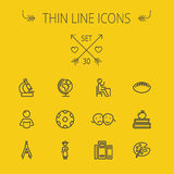 Education thin line icon set Royalty Free Stock Photography