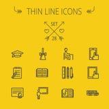 Education thin line icon set Stock Image