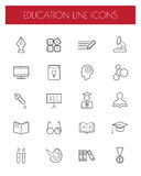 Education thin line icons set.vector illustration. Stock Image
