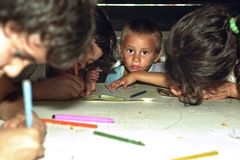 Education for toddlers in Argentine slum Royalty Free Stock Image