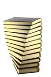 Education tower. Bronze books tower isolated on white background royalty free stock photography