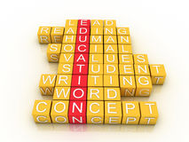 Education Toy Blocks. (colorful cubes buzzword series Stock Image