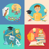 Education and training schoolboy learning back to school Royalty Free Stock Photo