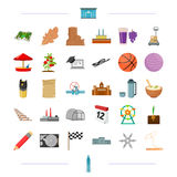Education, travel, transportation and other web icon in cartoon style.oil refining, sport, security icons in set. Education, travel, transportation and other Royalty Free Stock Photos