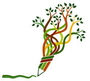 Education tree. A illustration of a education symbol Royalty Free Stock Image