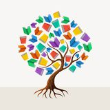 Education tree book concept illustration. Education and learning concept with colorful abstract tree book illustration. EPS10  file organized in layers for easy Royalty Free Stock Photos