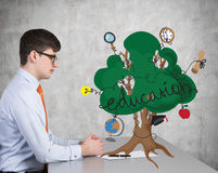 Education tree Royalty Free Stock Photos