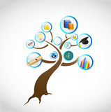 Education tree concept illustration design Stock Image