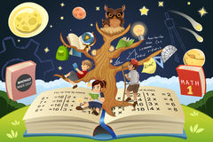 Education  Tree Concept. A vector illustration of education tree concept Royalty Free Stock Photo