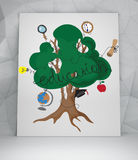 Education tree with icons Stock Image