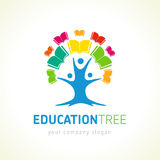 Education tree open book logo Stock Images