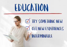Education Try Something New Development Concept. Education Try Something New Development Strategy Royalty Free Stock Photography