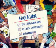 Education Try Something New Development Concept. Students Education Try Something New Development Stock Photo