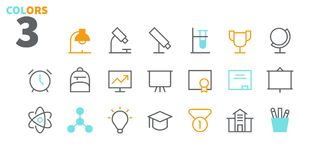 Free Education UI Pixel Perfect Well-crafted Vector Thin Line Icons 48x48 Ready For 24x24 Grid For Web Graphics And Apps With Royalty Free Stock Photo - 115456205