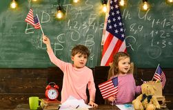 Education university and school system in The United States of America. Look for tutor with experience teaching children royalty free stock photo