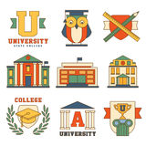 Education and University Set of Icons Vector Royalty Free Stock Photo