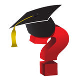 Education unknown question mark Royalty Free Stock Photo