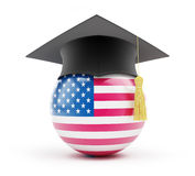 Education usa. On a white background Royalty Free Stock Photo