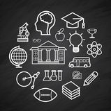 Education vector Blackboard icon,background Stock Photo