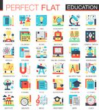 Education vector complex flat icon concept symbols for web infographic design. Education vector complex flat icon concept symbols for web infographic design Royalty Free Stock Image