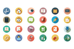 Education Vector Flat Icons 3 Stock Photography