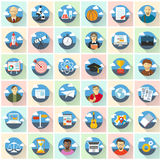 Education vector icons. Royalty Free Stock Image