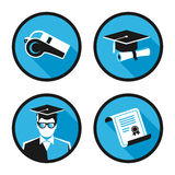 Education vector icons Royalty Free Stock Images