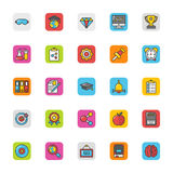 Education Vector Icons 4 Royalty Free Stock Images