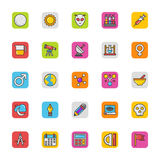 Education Vector Icons 3 Stock Photography