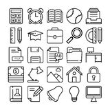 Education Vector Icons 4 Stock Photography