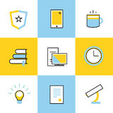 Education vector icons. Scool or university Stock Photography