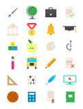 Education vector icons set. Set of 24 education vector icons Royalty Free Stock Photo