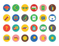 Education vector icons set. Education, students or Stock Image