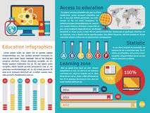 Education vector infographics template. With teaching vector charts Stock Images