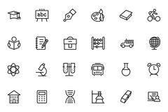 Education Vector Line Icons 1 Stock Images