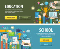 Education vector logo design template. school or Royalty Free Stock Image