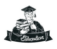 Education vector logo design template. school Royalty Free Stock Image