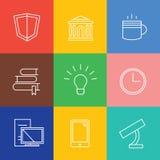Education vector logo icons set. Graduation Stock Photography