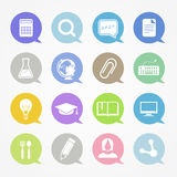 Education web icons Stock Photo