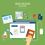Education website development project design concept Royalty Free Stock Images