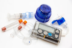 Education about what you need to control diabetes Stock Photo