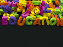 Education word Royalty Free Stock Photos