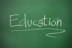 Education word on Blackboard Royalty Free Stock Images