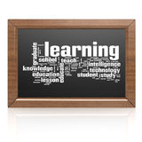 Education word on blackboard Stock Image
