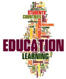 Education Word Cloud. Collection of education related words for design projects vector illustration