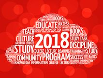 2018 Education word cloud collage stock photos