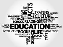 EDUCATION word cloud royalty free illustration