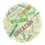 Education word cloud Royalty Free Stock Image